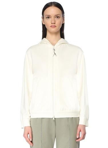 Brunello Cucinelli Brunello Cucinelli  Kapüşonlu Fermuarlı Sweatshirt 101614161 Beyaz